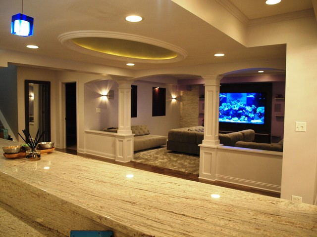Lake Forest Basement Remodel By Leslie Lee At Normandy Remodeling Extraordinary Basement Lighting Design Exterior