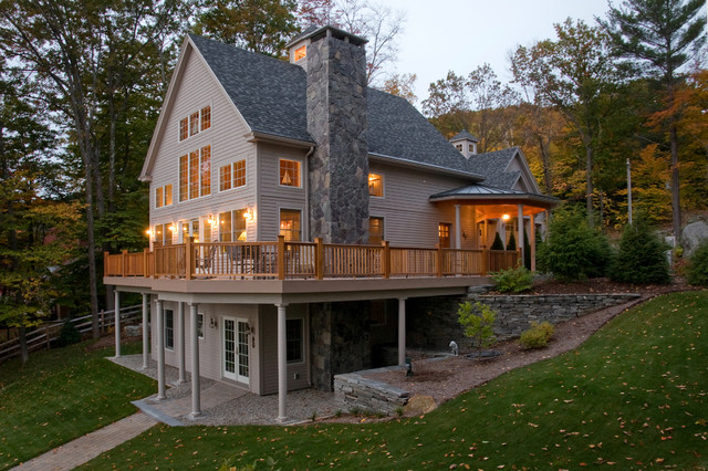 Lake sunapee nh view traditional basement boston for Walkout basement