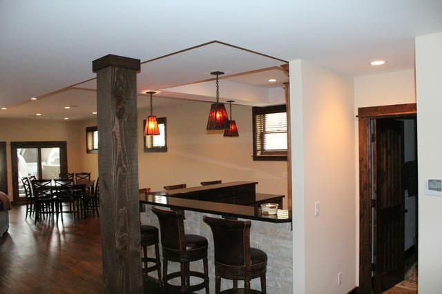 Lakehouse Reuild traditional-basement