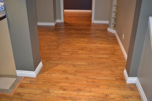 laminate flooring contemporary basement