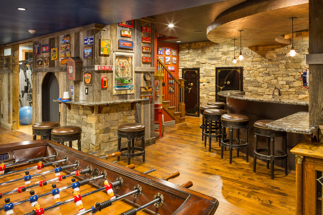 Leawood Lower Level Rustic Basement Kansas City By