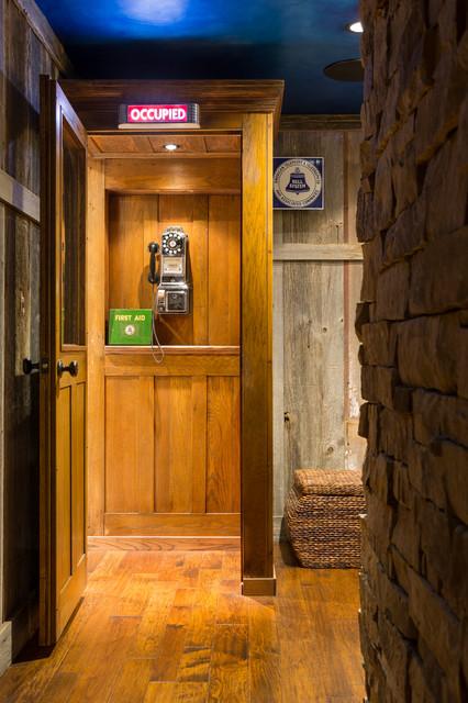 Lighting Basement Washroom Stairs: Leawood Lower Level