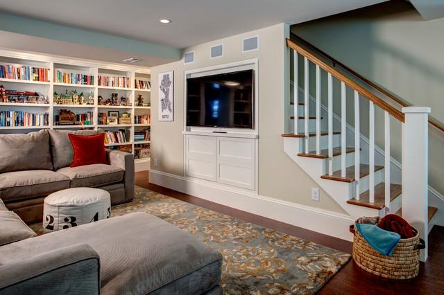 Basement Pictures light-filled basement - traditional - basement - seattle -