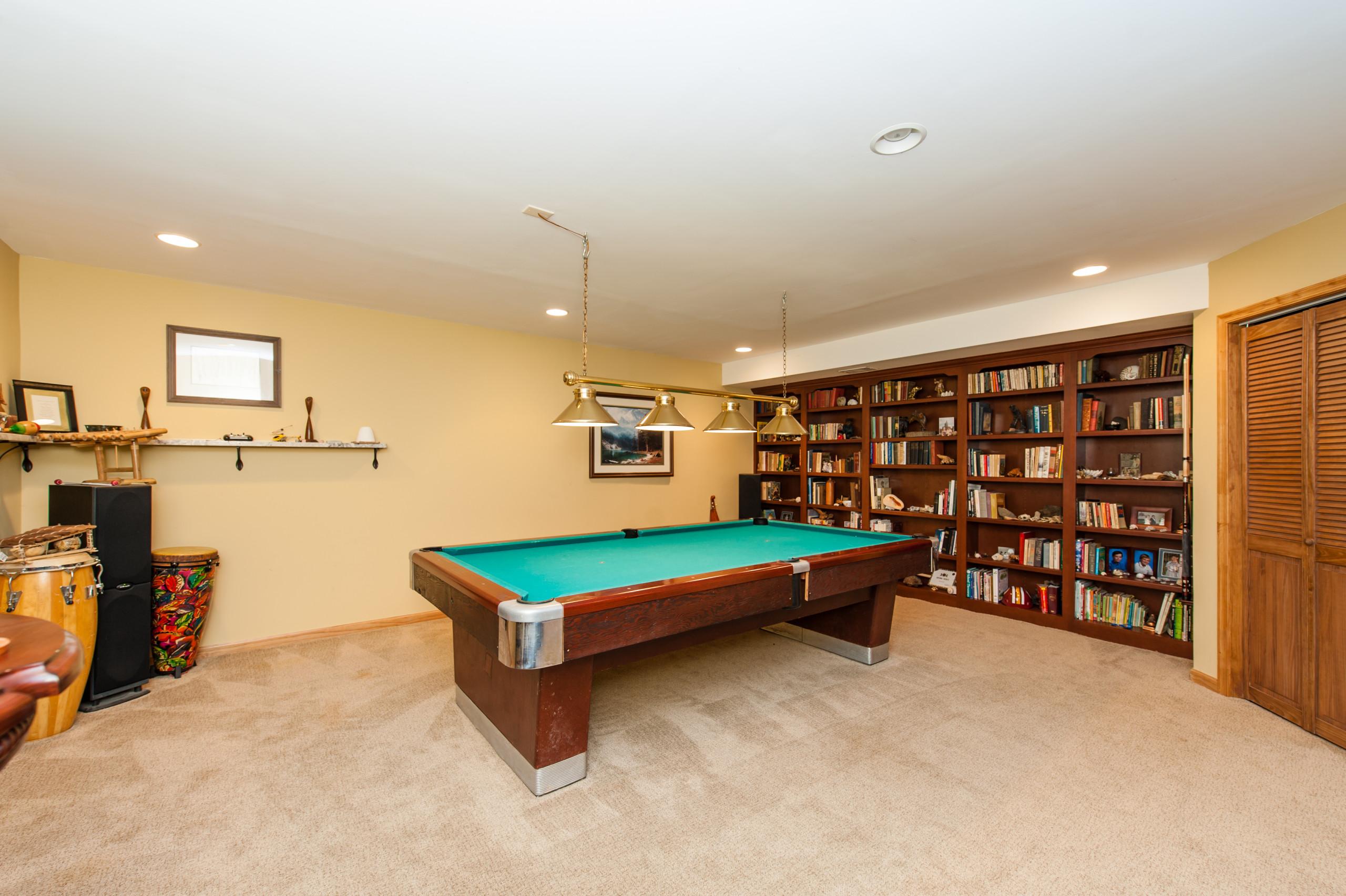 Linden, VA Pool Room Built-In Shelves