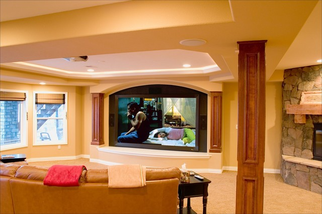 Lone Tree Walk Out Finished Basement With Theater Wet Bar