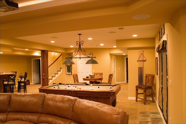 Lone Tree Walk Out Finished Basement Theater Wet Bar Pool Table Traditional