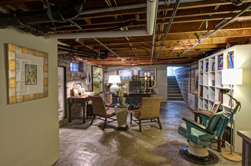 exposed ceiling basement