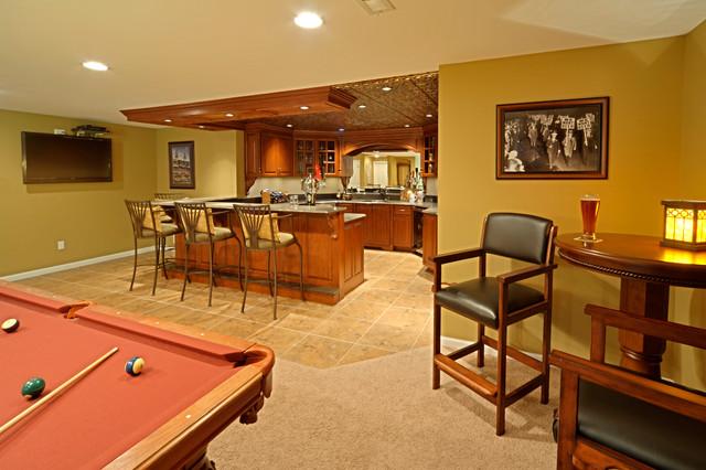 Lower Level Finish traditional-basement