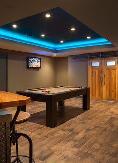 Lower Level Finish With Home Theatre And More