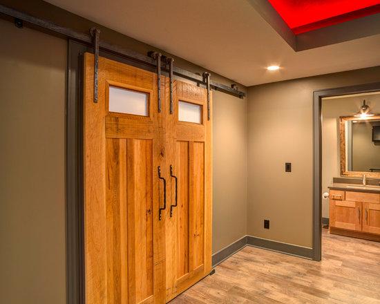 Interior Barn Door Basement Design Ideas Pictures Remodel Decor