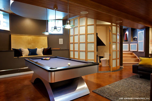 Contemporary Basement by Lincolnwood Design-Build Firms Airoom Architects-Builders-Remodelers
