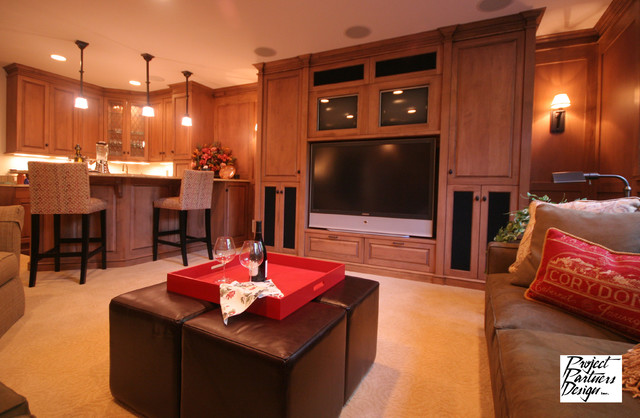Lower Level Luxury Traditional Basement Chicago By
