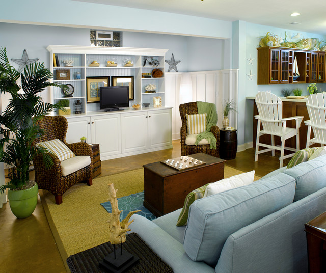 Houzz Home Design Ideas: Lower Level Multi-Purpose