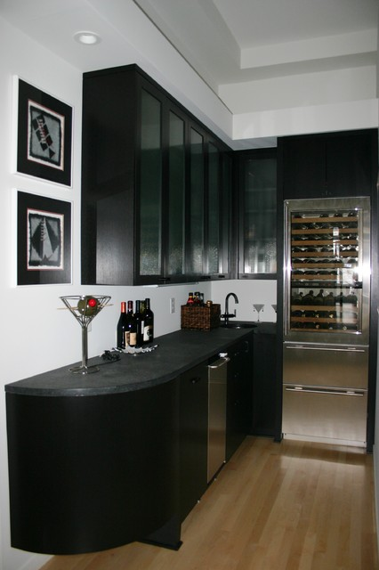 Lower Level Wet Bar Modern Basement Other By Modern Design Cabinetry