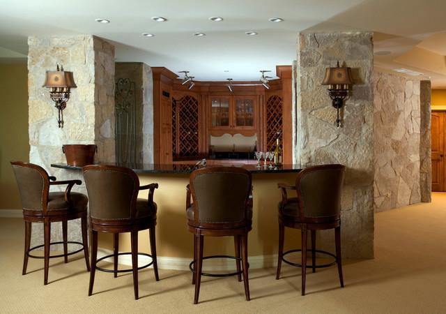 Long Grove Residence traditional-basement