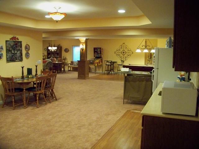 Lower Levels traditional-basement