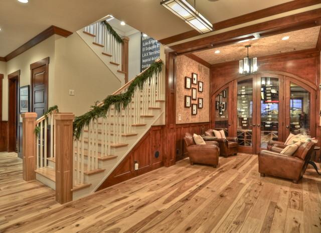 Luann development craftsman basement los angeles for Country basement ideas