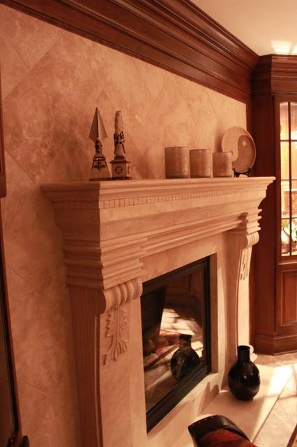 Luxury Basement mediterranean-basement
