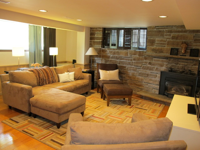 Lyndale Ave. Staging contemporary-basement