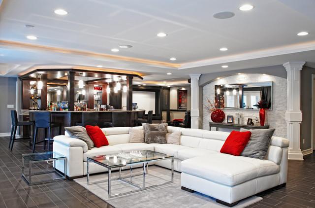 M.J. Whelan Construction contemporary-basement