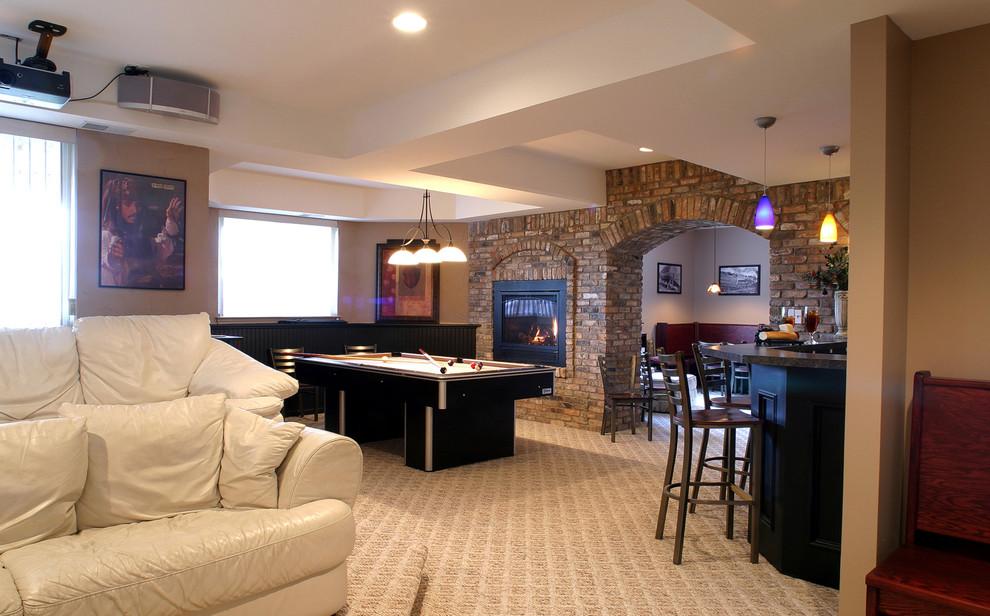 Trendy basement photo in Detroit