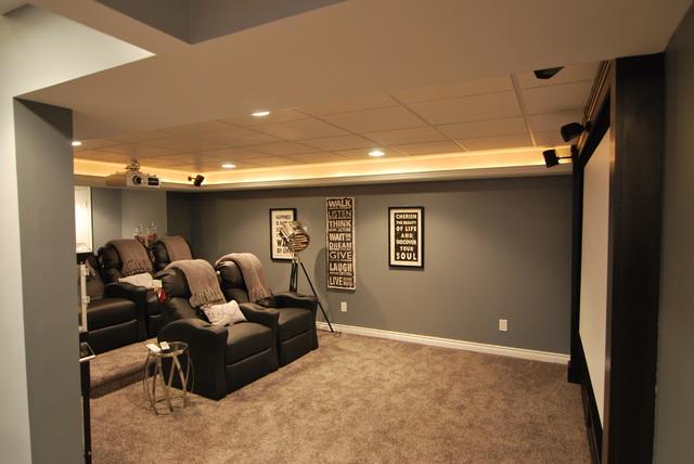 Macomb Twp Basement contemporary-basement