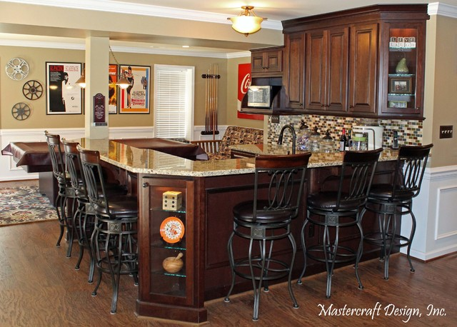 Made for Entertaining traditional-basement