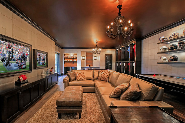 Man Cave With Multiple Tvs : Man cave contemporary basement tampa by kds