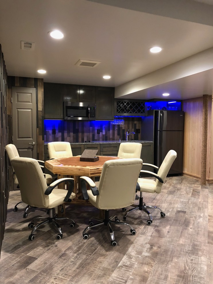 Man Cave Timber Wall Wet Bar Poker Table Rustic Basement Baltimore By Glorem