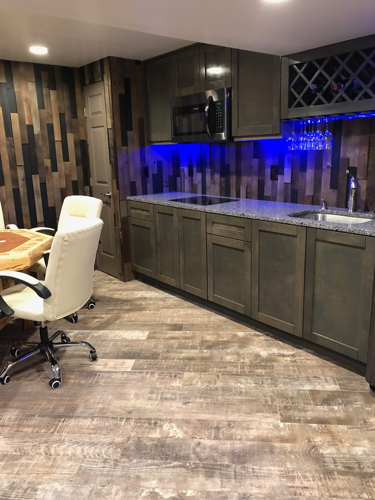Man Cave Wet Bar Rustic Basement Baltimore By Glorem