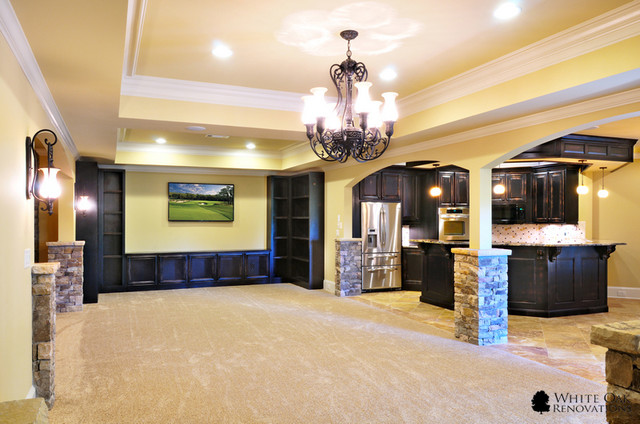manor golf and country club basement remodel traditional