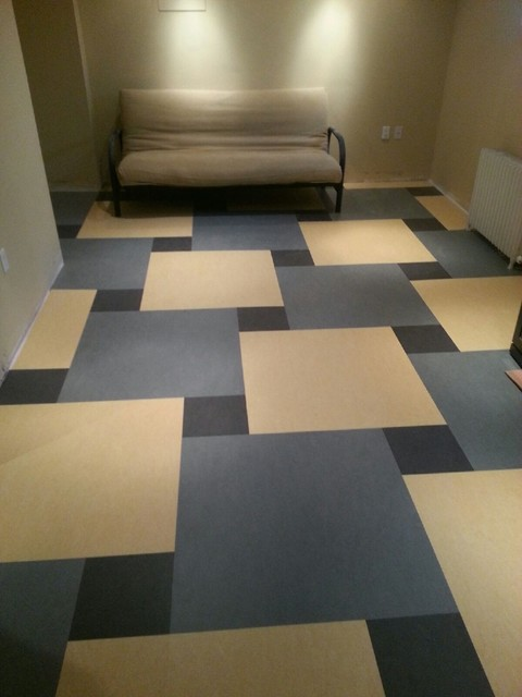 Marmoleum Click Contemporary Basement Ottawa By Forbo Flooring Systems