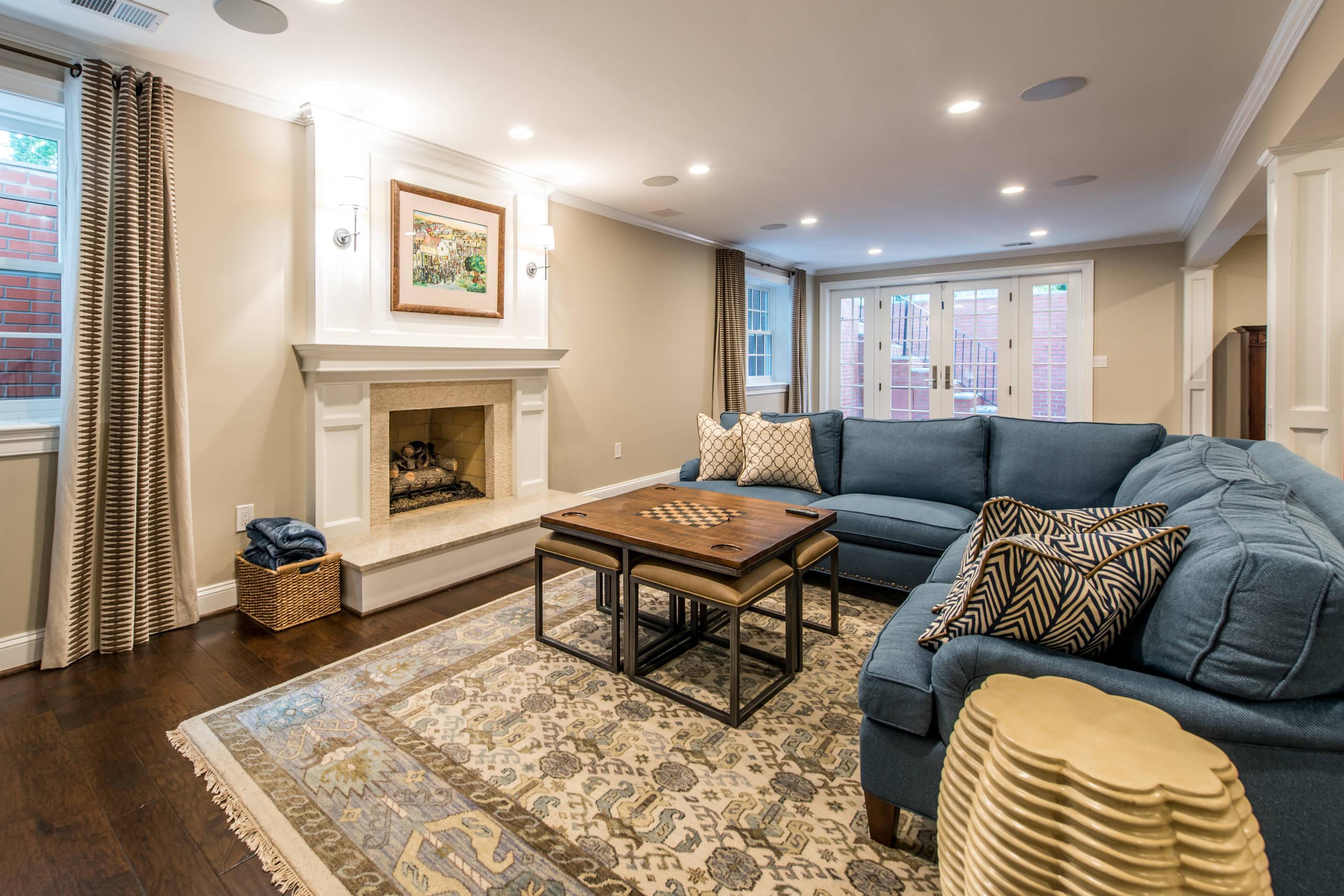 McLean, VA Traditional Basement Suite