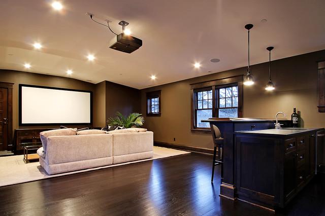 Media Room contemporary-basement