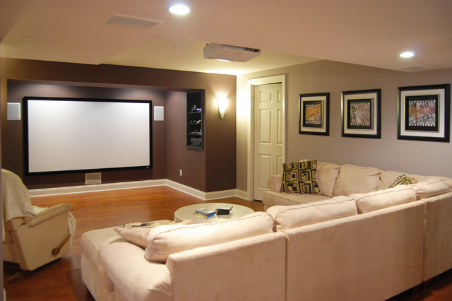 Media Space Traditional Basement New York By Home