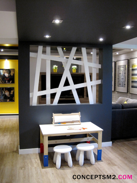 Mes r alisations contemporary basement montreal by for Basement concepts