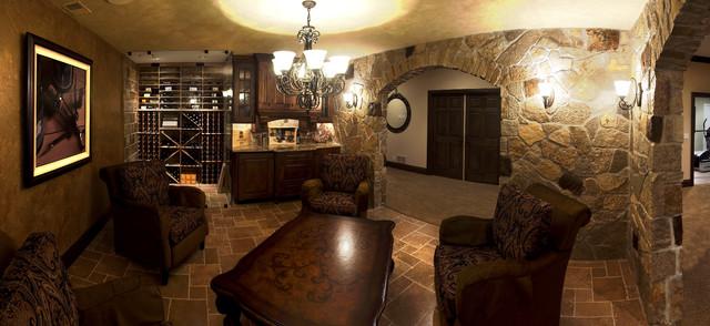 Mike & Debrah's Basement traditional-basement