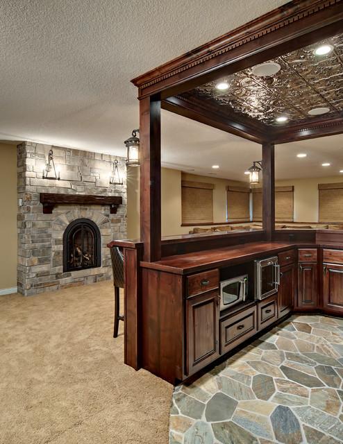Minnetrista Basement traditional-basement