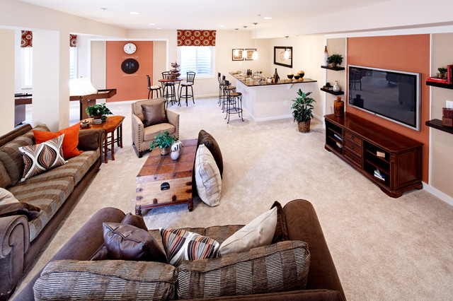 home traditional basement dc metro by mid atlantic builders