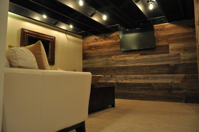 Modern And Rustic Rustic Basement