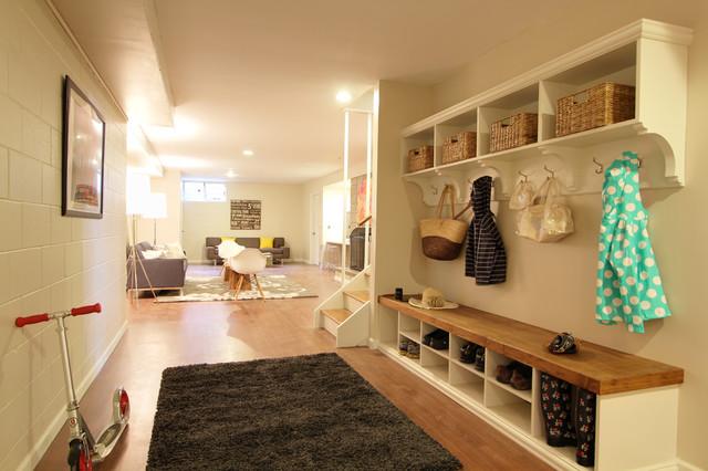 Modern contemporary-basement