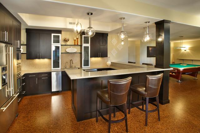 Modern basement for Modern basement remodeling ideas