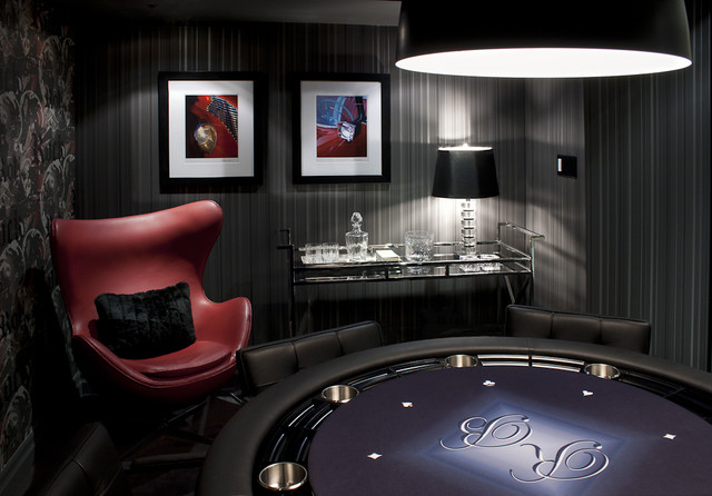 Poker Room (Basement) contemporary-basement