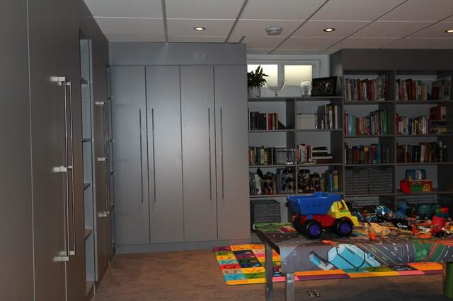 Modern Basement Storage traditional-basement