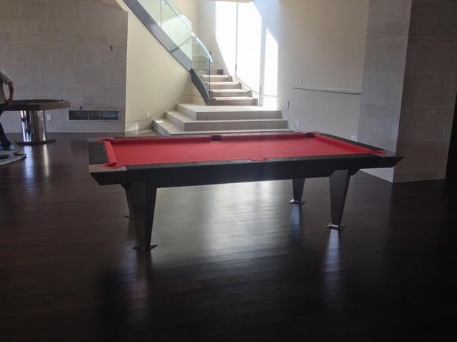 Modern Pool Table modern-basement