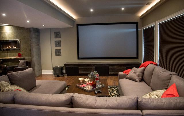 Modern urban basement oakville transitional basement Home interior designer oakville