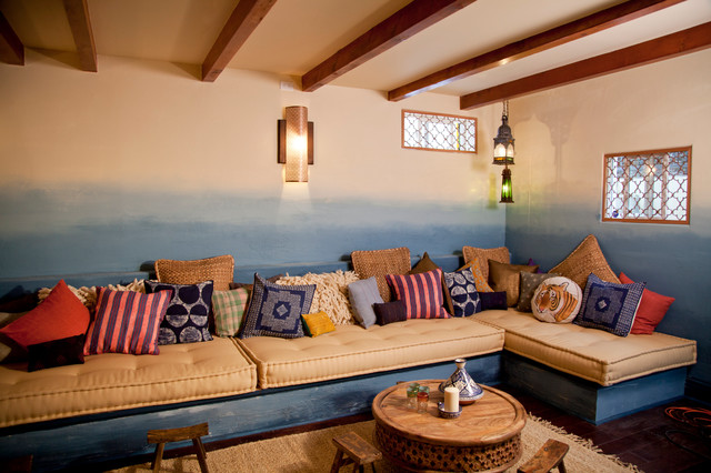 moroccan basment for room crashers - eclectic - basement - los