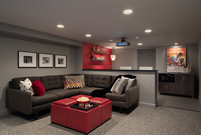 Gray and red bedroom ideas