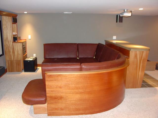movie theater basement contemporary basement philadelphia by