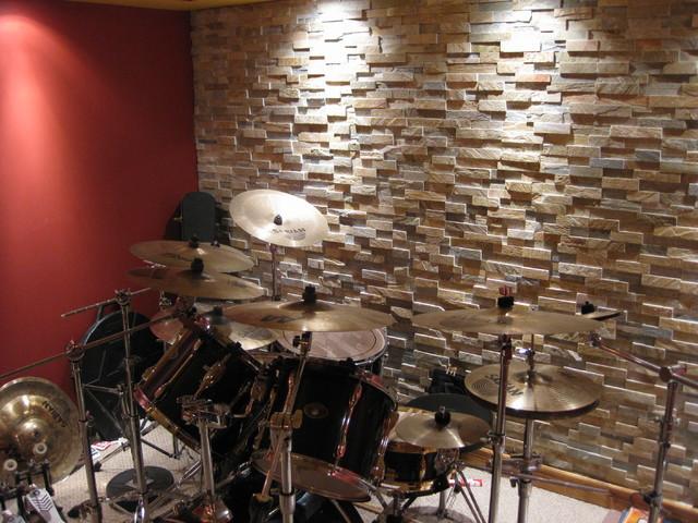 Man Cave Music Room Ideas : Music room man cave contemporary basement detroit
